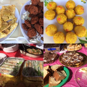 Some of the delicious food available at the stalls
