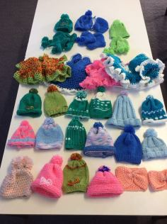 Colourful hats, dresses and booties