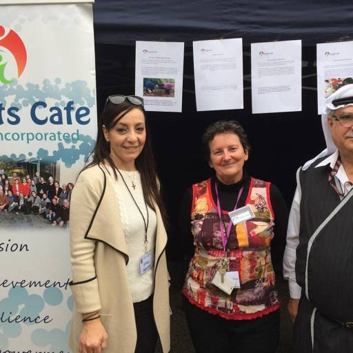 PCFI staff ready to meet people at the Refugee Expo
